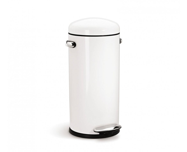 Pedalspand, Simplehuman, 30 l - Hvid