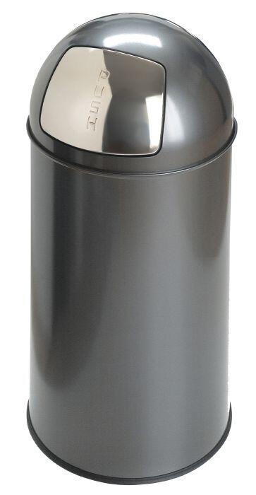 Fin Enkel affaldsspand med vippelåg - Brandsikker - PureSolution.dk XV-97