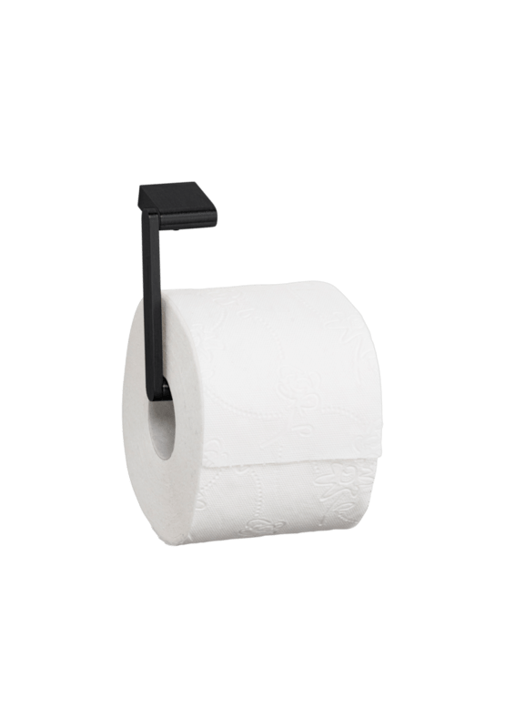 Toiletrulle-holder, enkelt rulle, sort rustfri stål, Proox Dark Passion - DP-380
