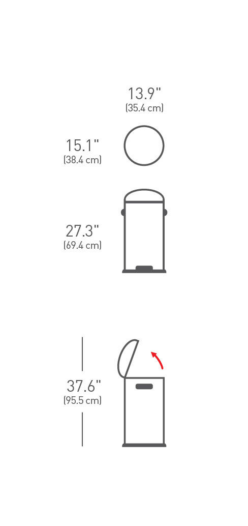 Pedalspand, Simplehuman, 30 l